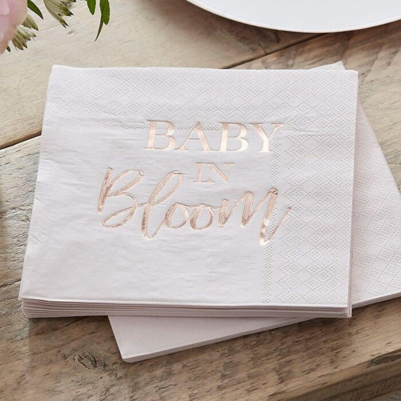 Light pink baby shower napkins