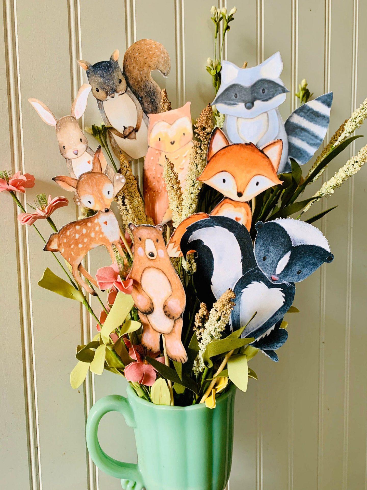 Woodland animals centerpiece