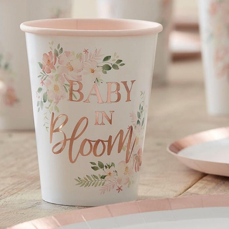 Custom baby shower cups