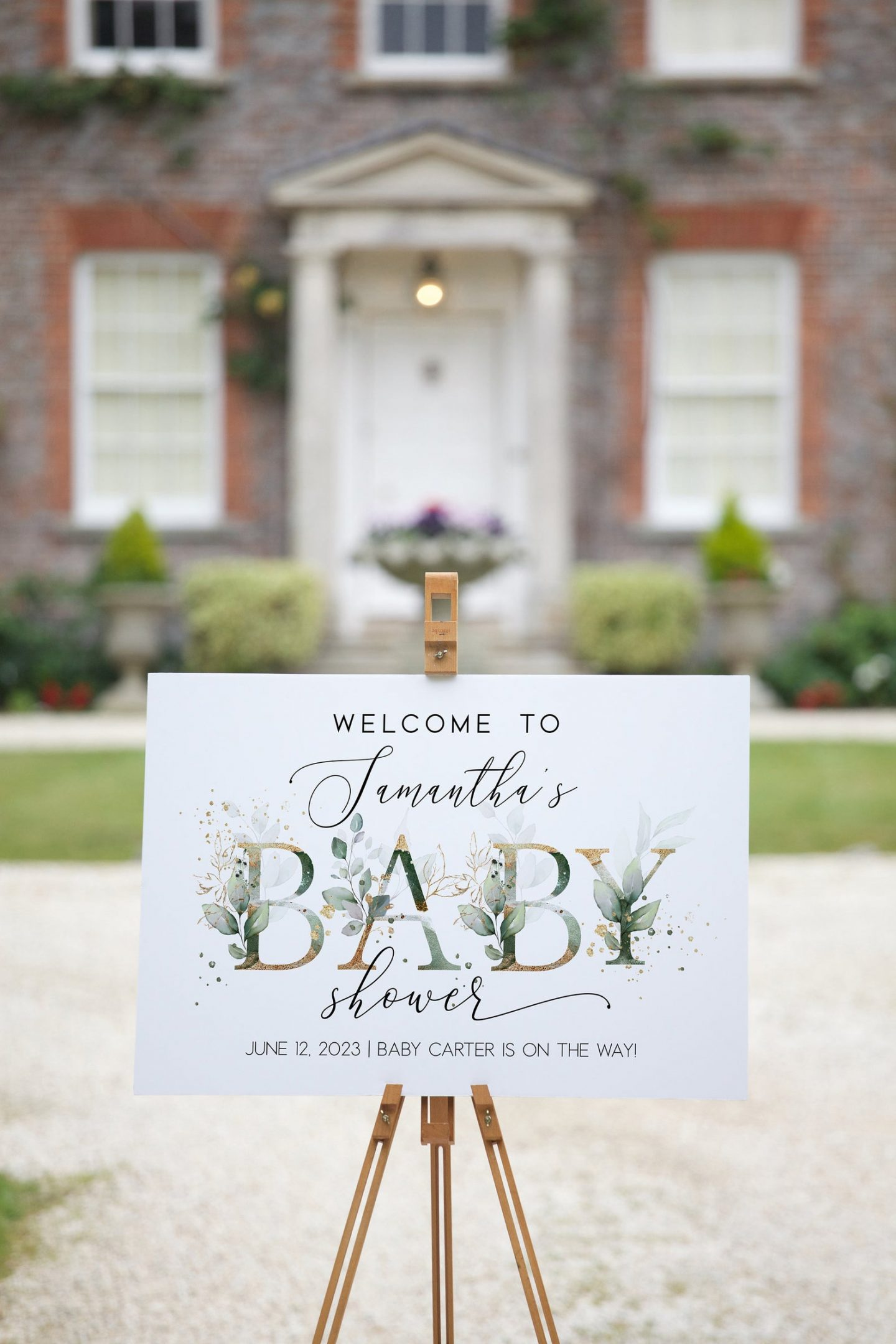 Watercolor baby shower welcome sign