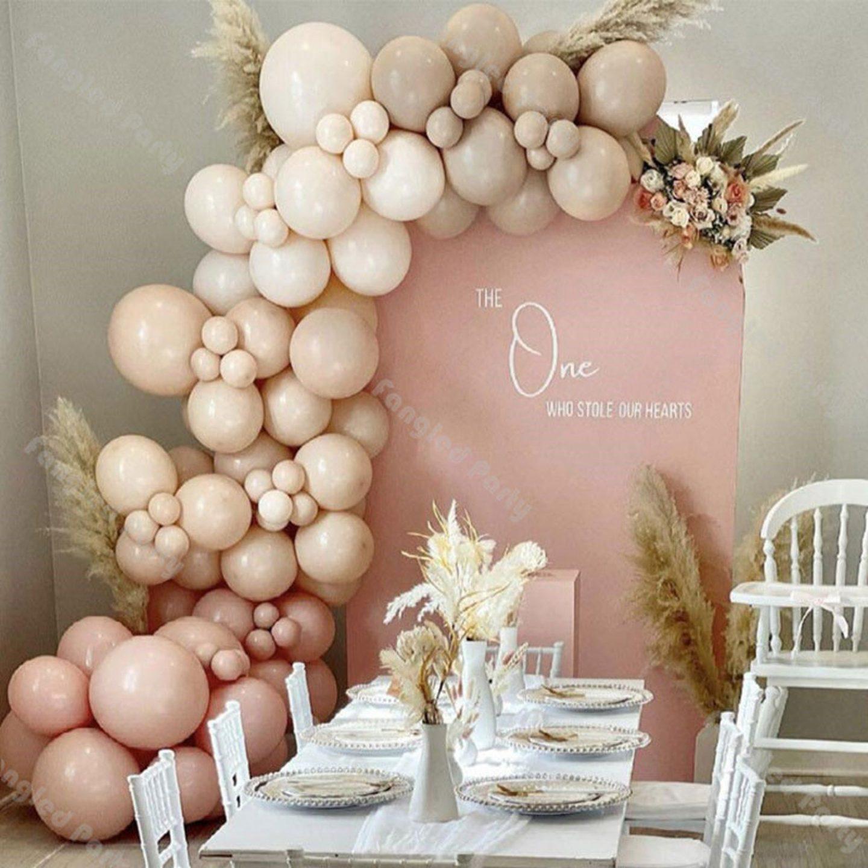 Ombre cream balloon garland