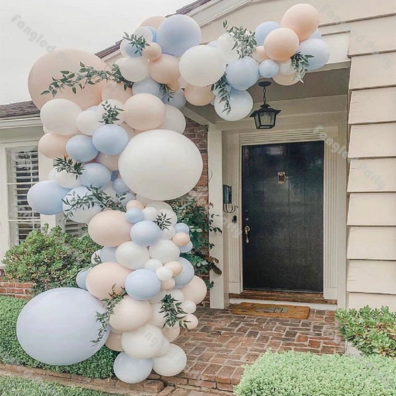 Ombre light b lue balloon garland for parties