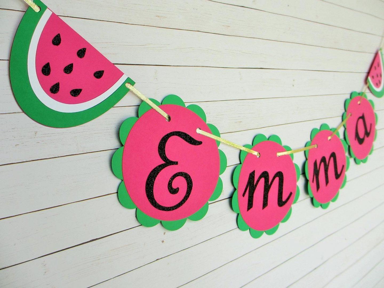 Personalized watermelon garland