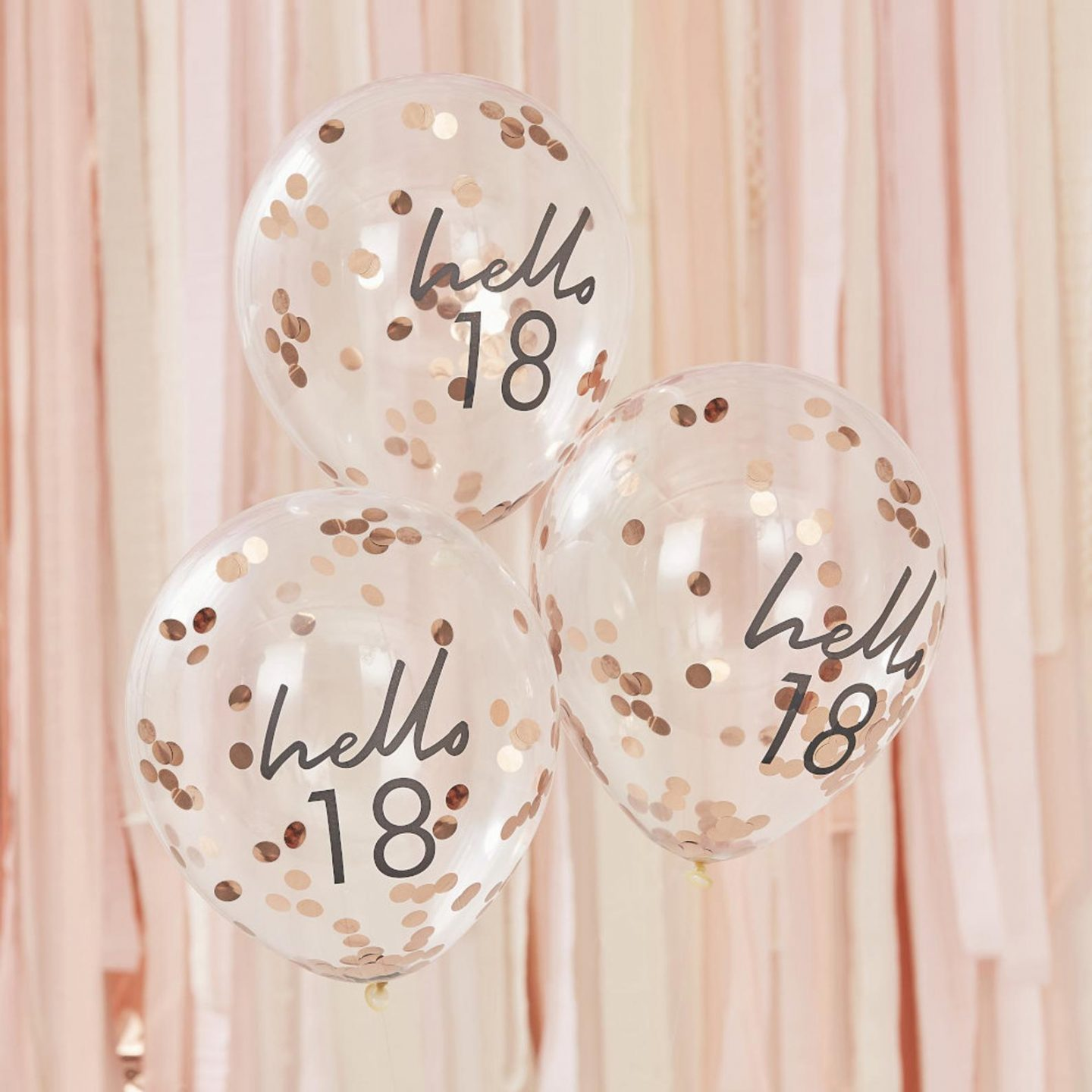 Cute and affordable birthday balloons with confetti