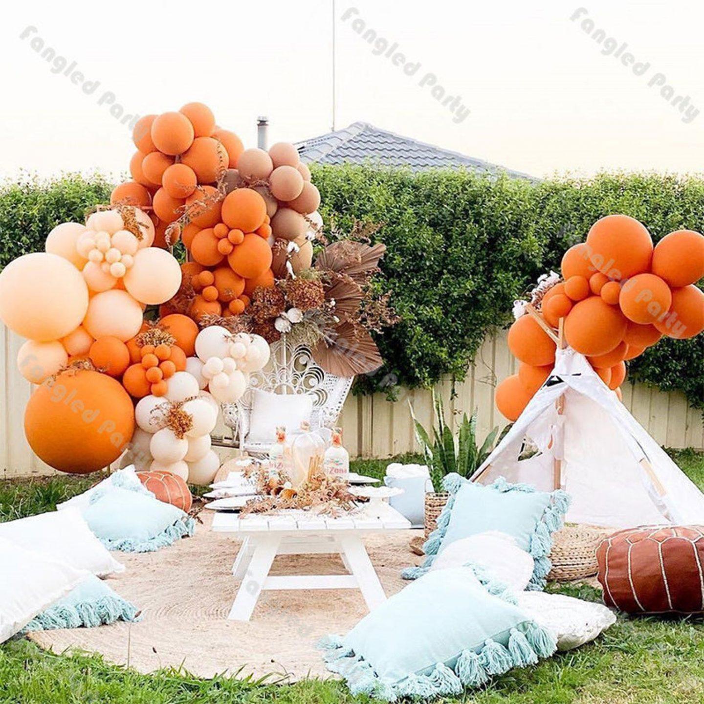 Matte ombre orange balloons