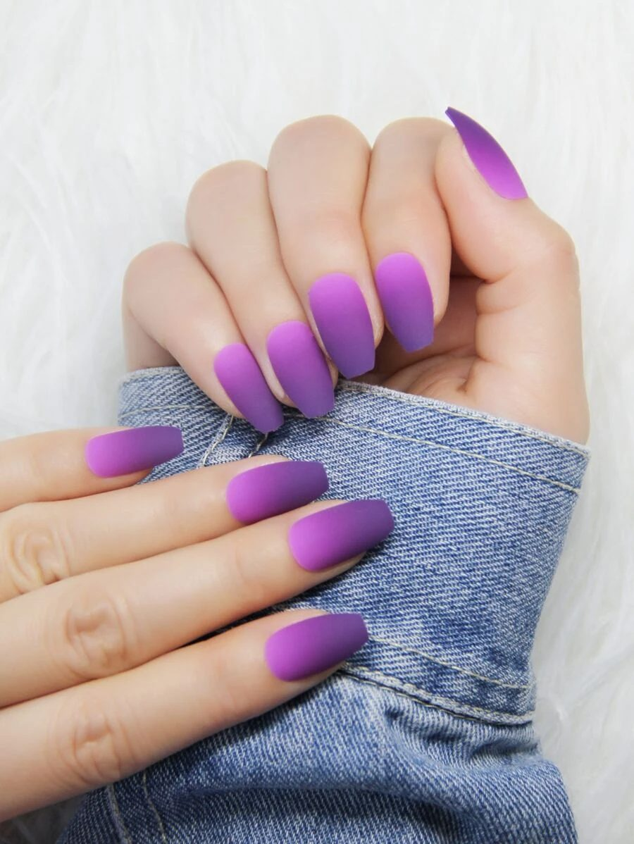 Pink and purple ombre nails