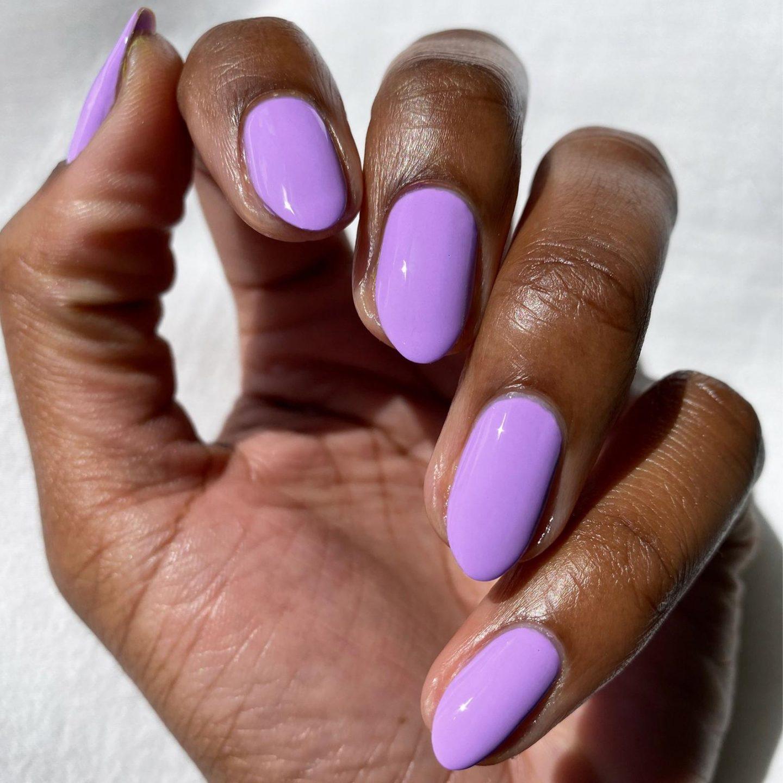Short lavender nails