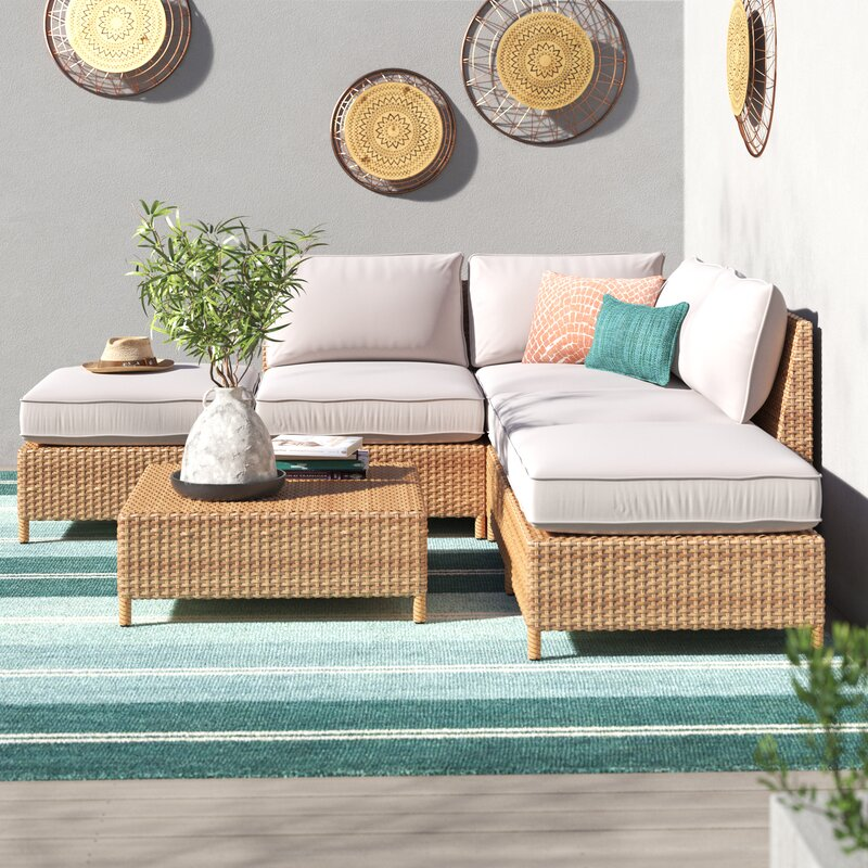 Rattan outdoor furniture and wall baskets