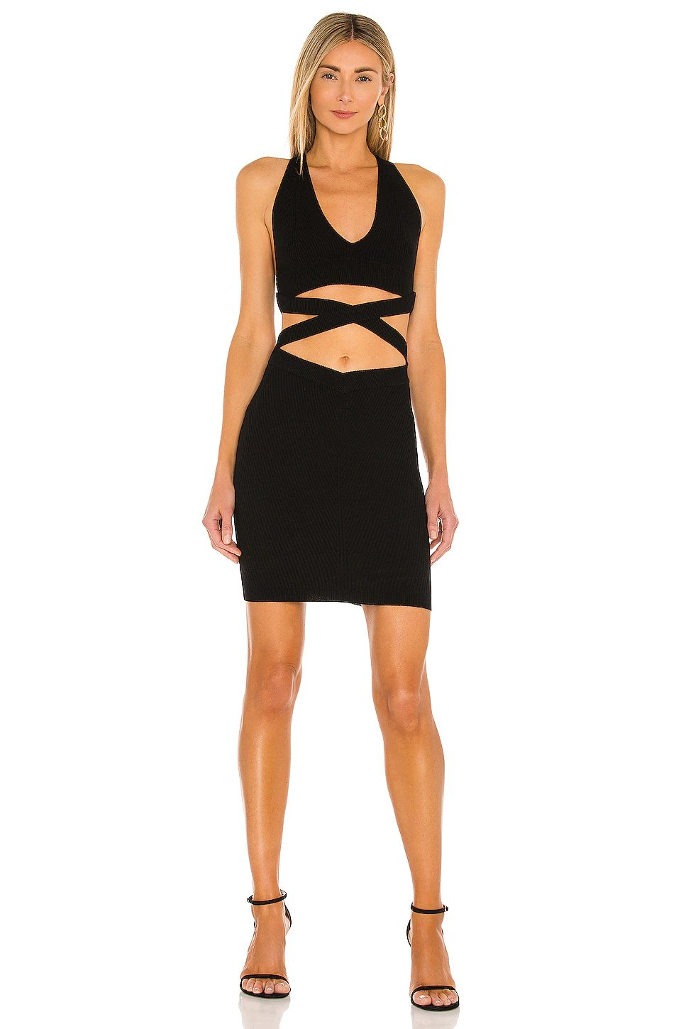 Black cut out going out dress