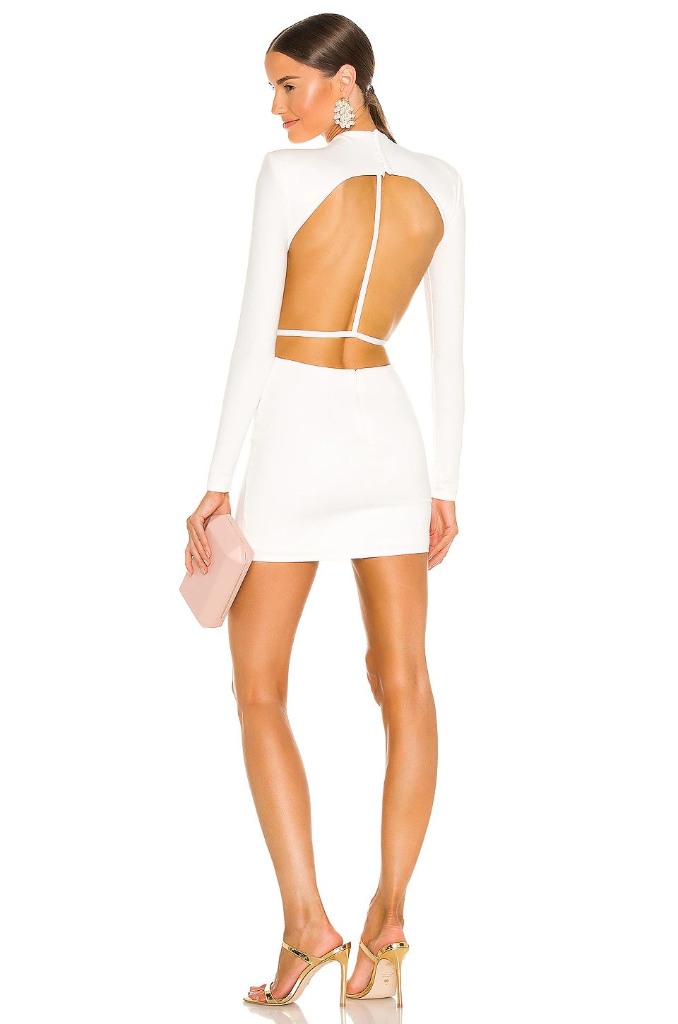 White backless mini dress for going out