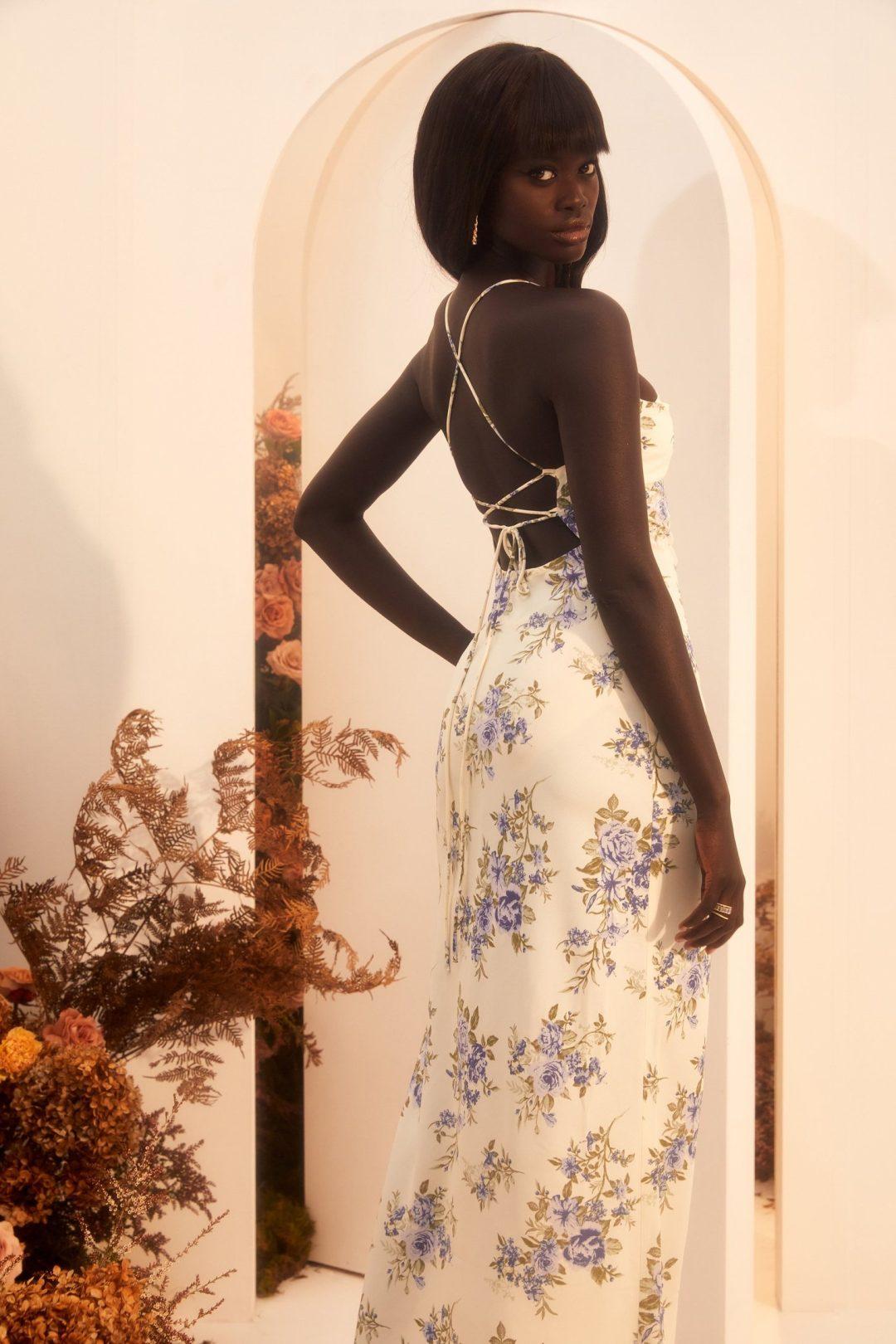 Dainty summer maxi dress floral