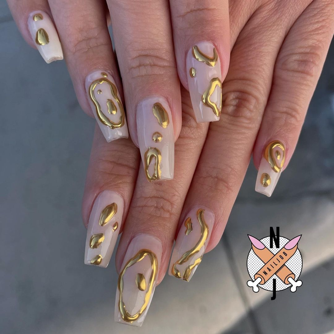 Molten gold nails