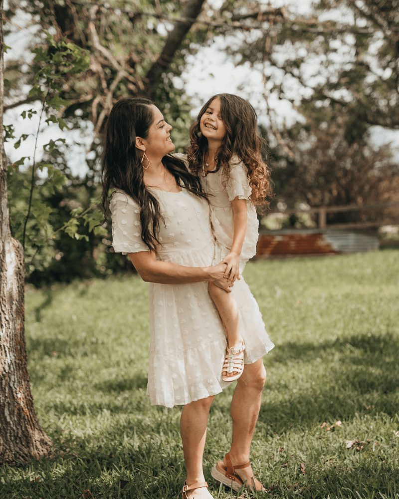 Light cream dress mommy and me outfit