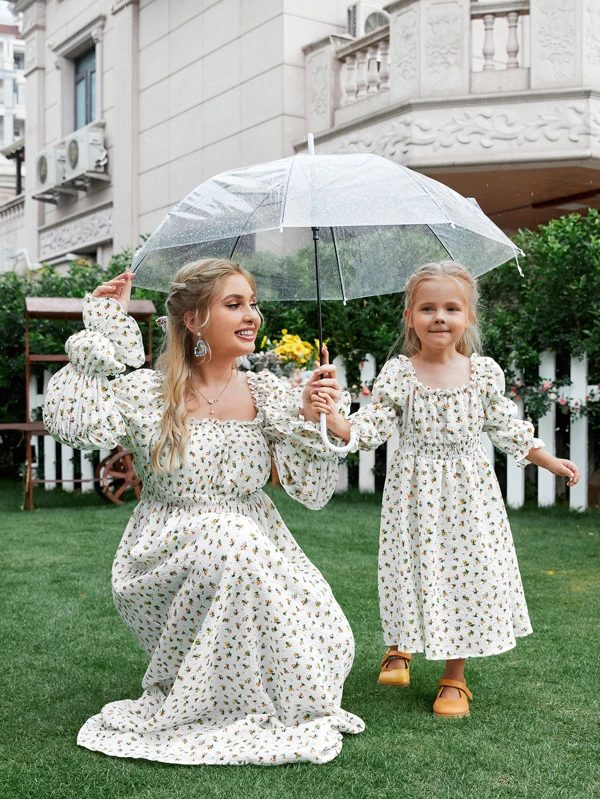 Milkmaid dress for mommy and me outfit