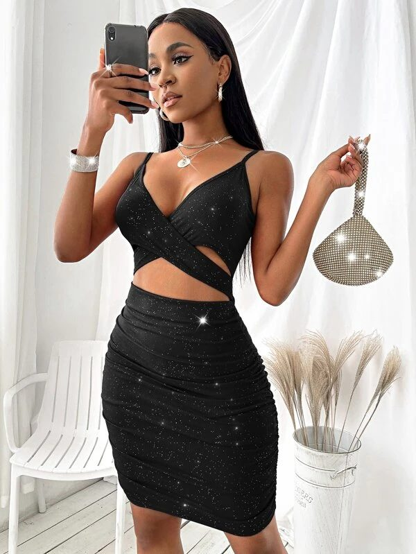 Sexy black cut-out dress for date night dresses