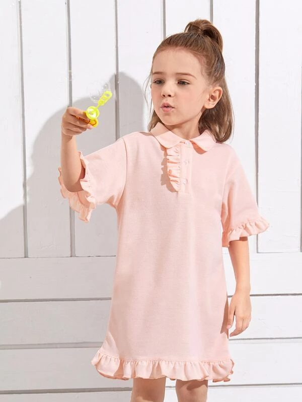 Dress with collar for toddlers