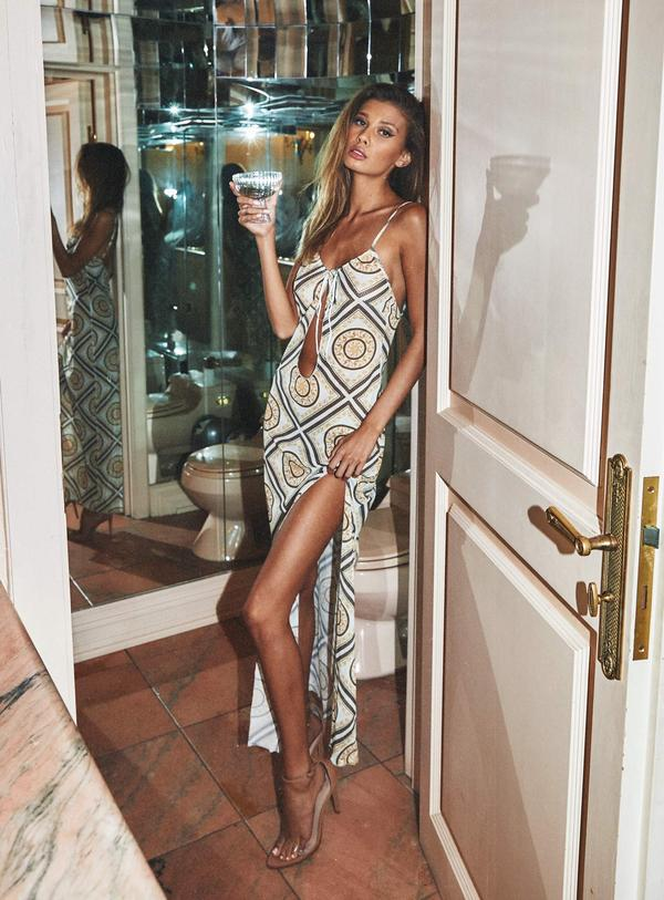 Patterned summer maxi dress