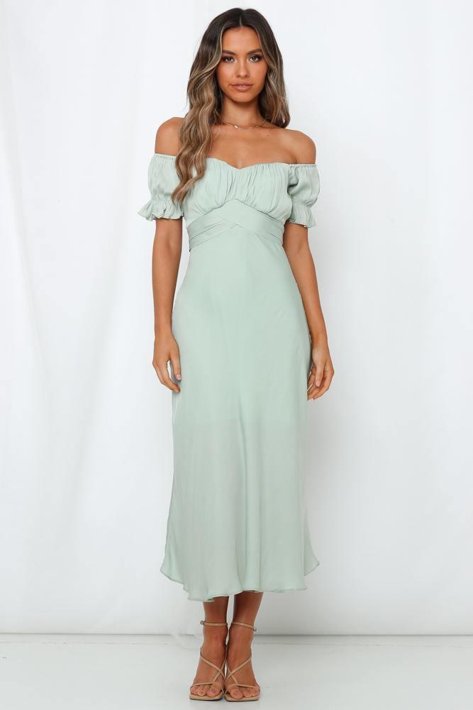 bardot summer maxi dress