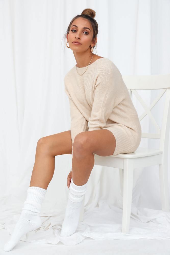 Beige gender-neutral jumper