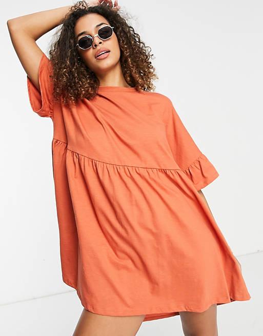 Orange house dress