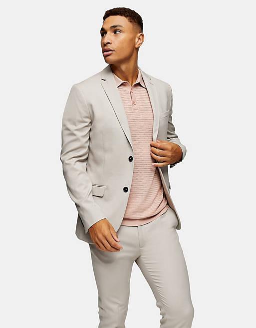 Ivory blazer suit for men