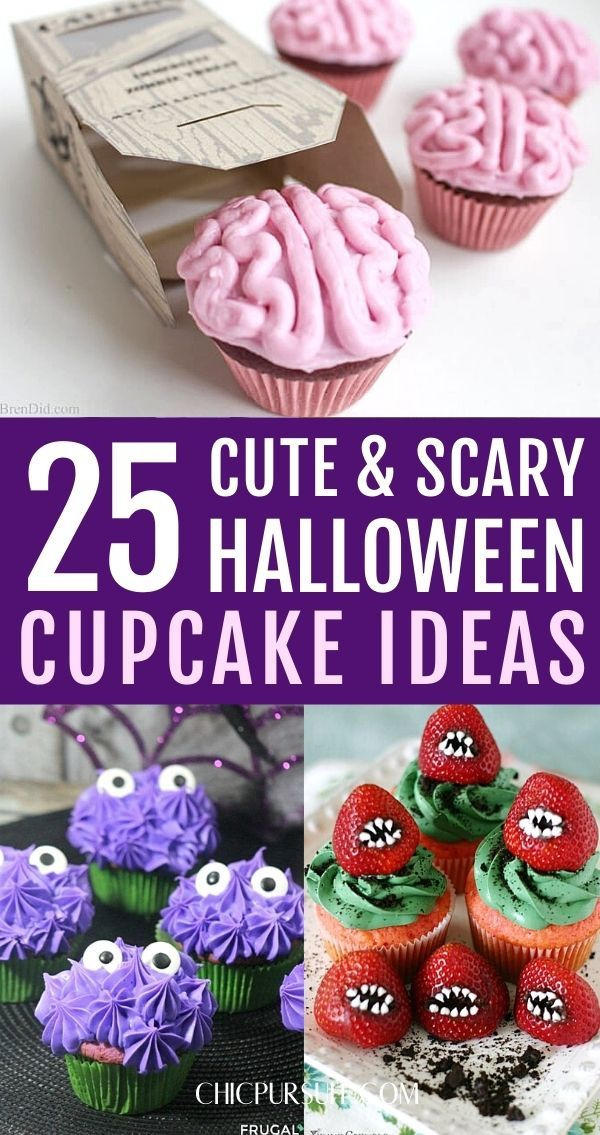 Scary Halloween cupcakes, creepy Halloween cupcakes, amazing Halloween cupcake ideas