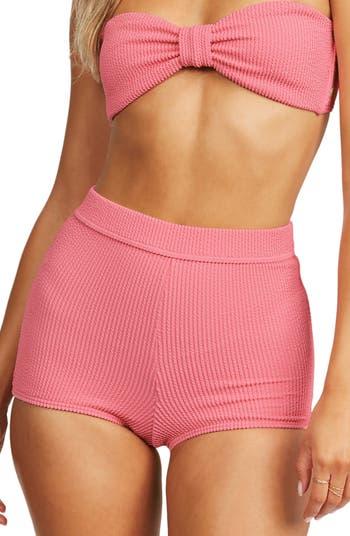 Ribbed pink bikini bottom