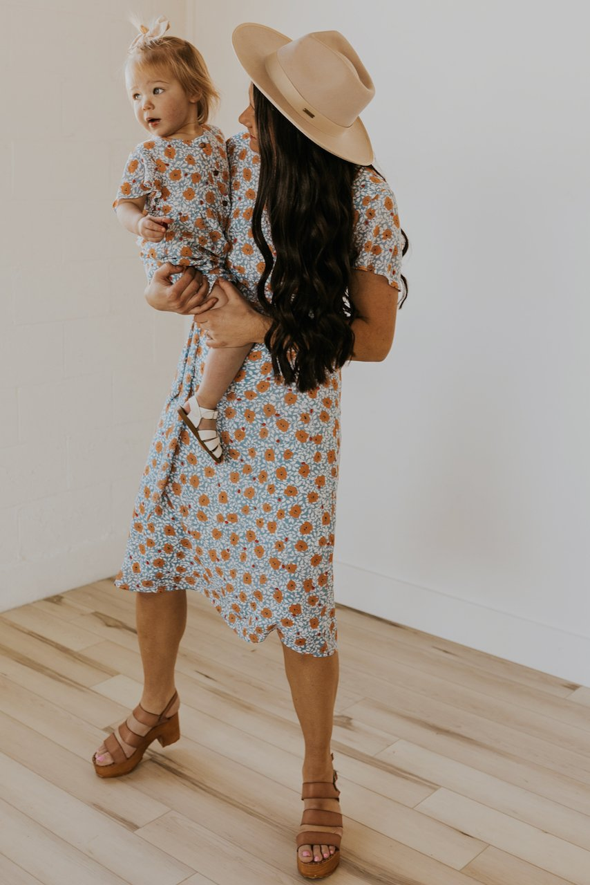 Floral mommy and me dress