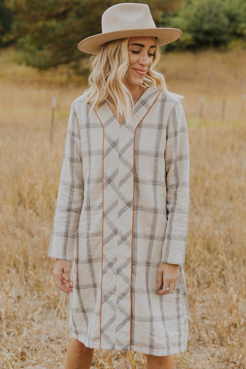 Checkered boxy house dress