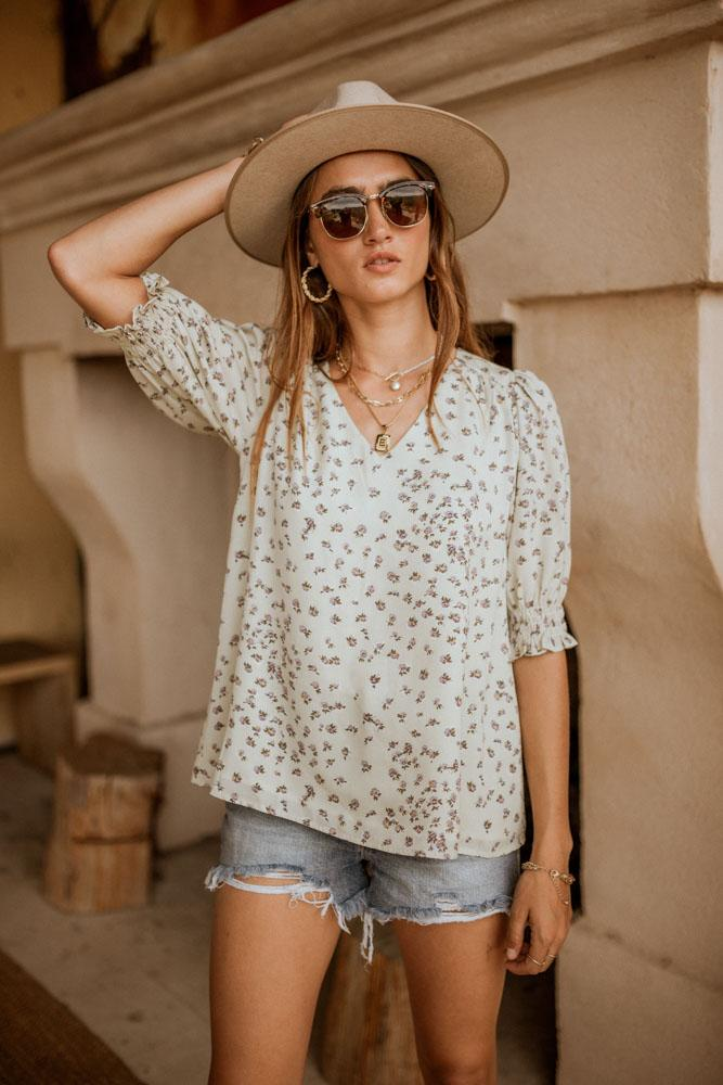 Floral sleeved blouse from Bohme