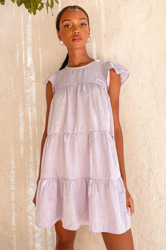 Lavender house dress