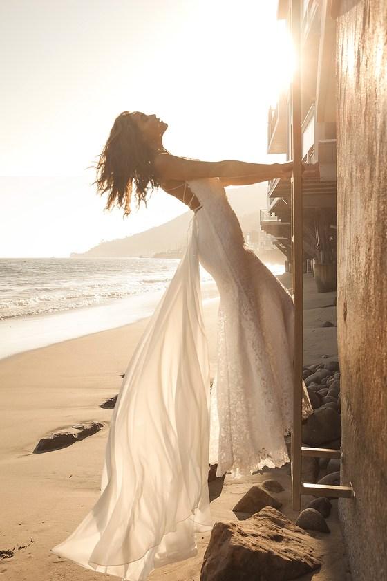 Beachy vibe affordable wedding dress