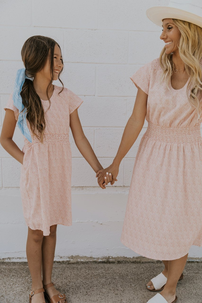 Dusty pink mommy and me outfit