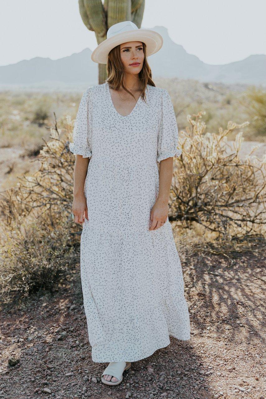 Modest summer maxi dress