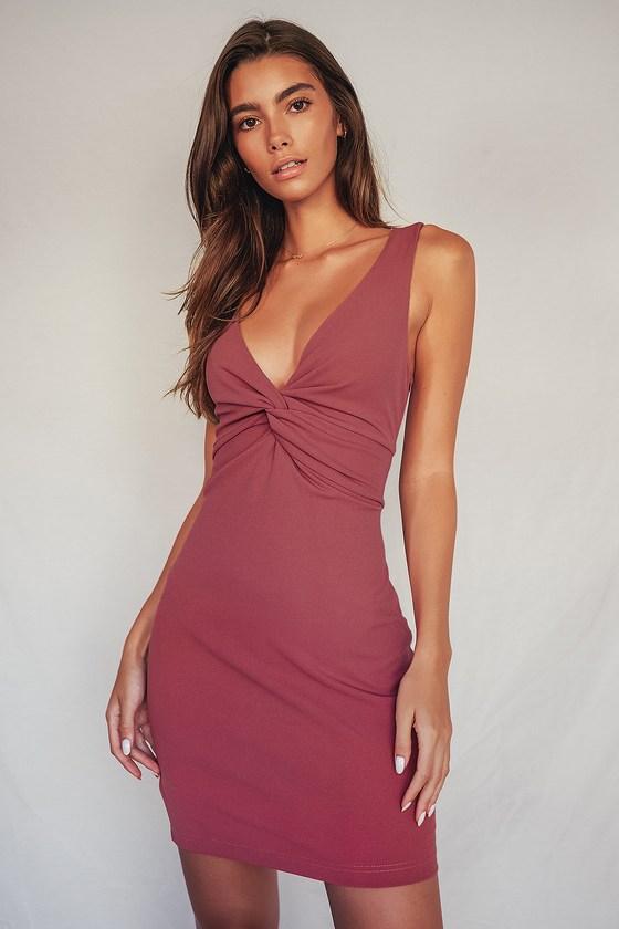 Simple mauve dress