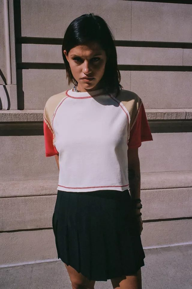 Colorblock crop top for back to school outfits