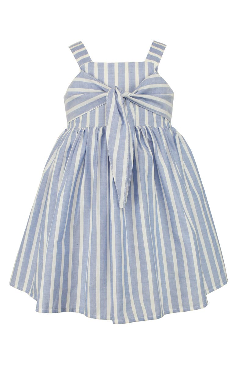Striped blue dress for toddlers