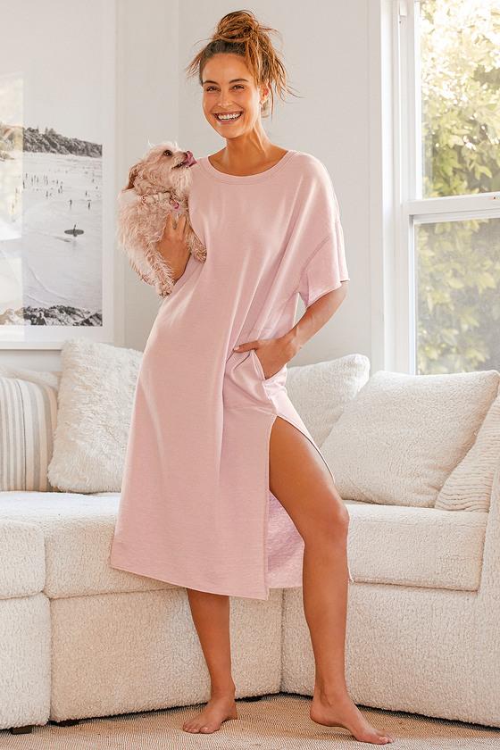 Pink t-shirt house dress