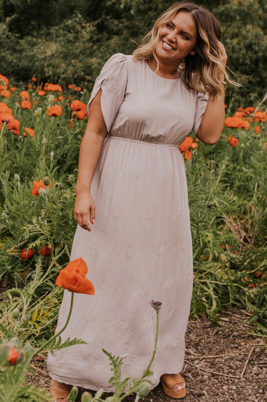 Beige summer maxi dress