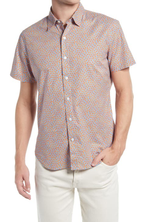 Printed button-up shirt for men