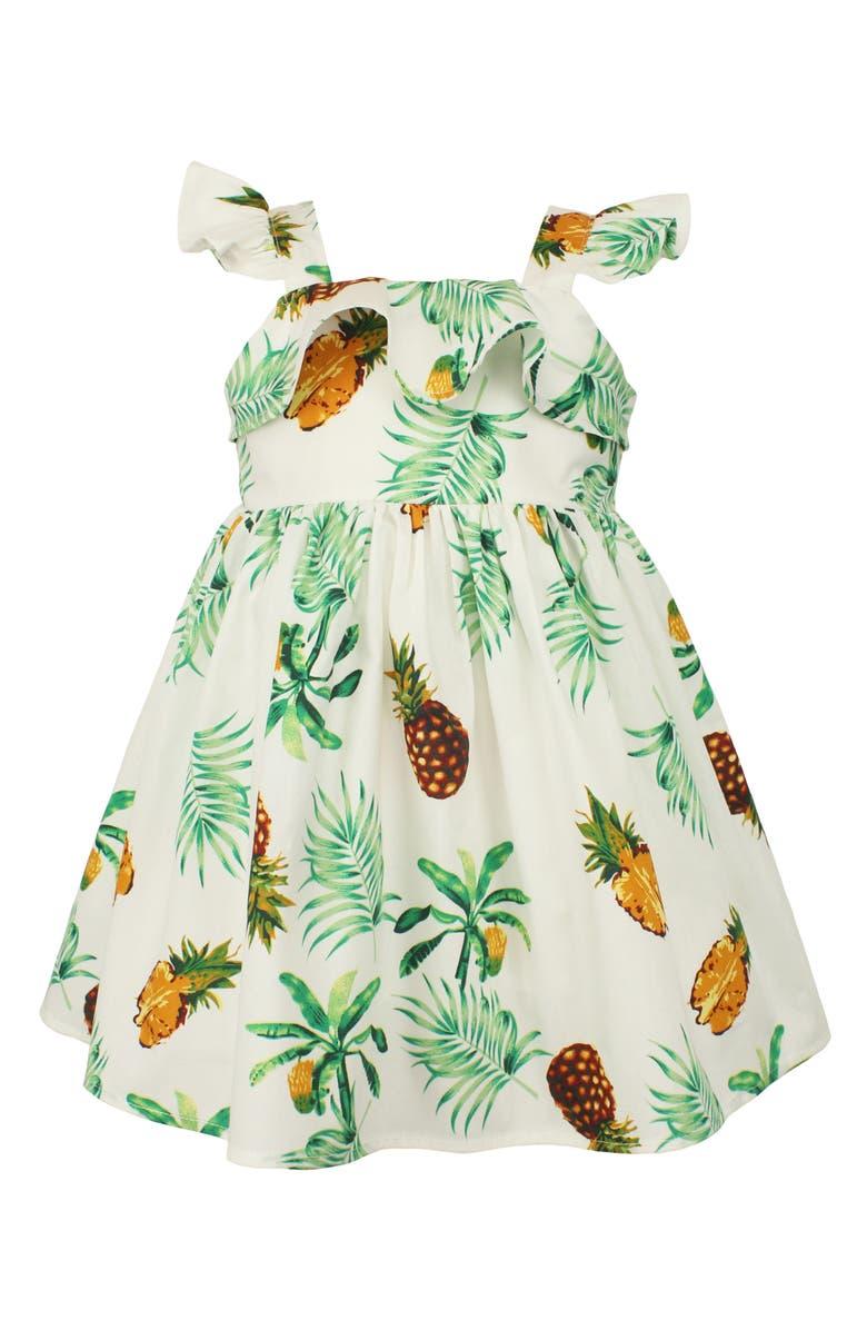 Pineapple dress for baby girls