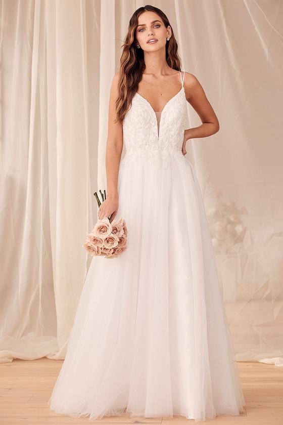 Simple affordable wedding dress