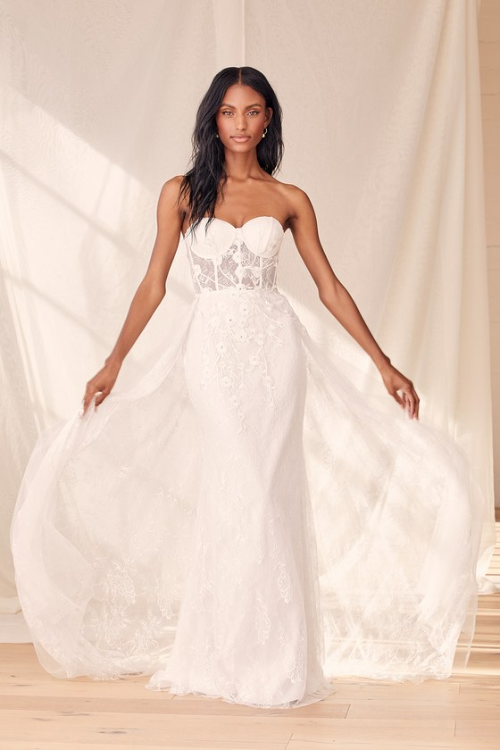 Bustier affordable wedding dress