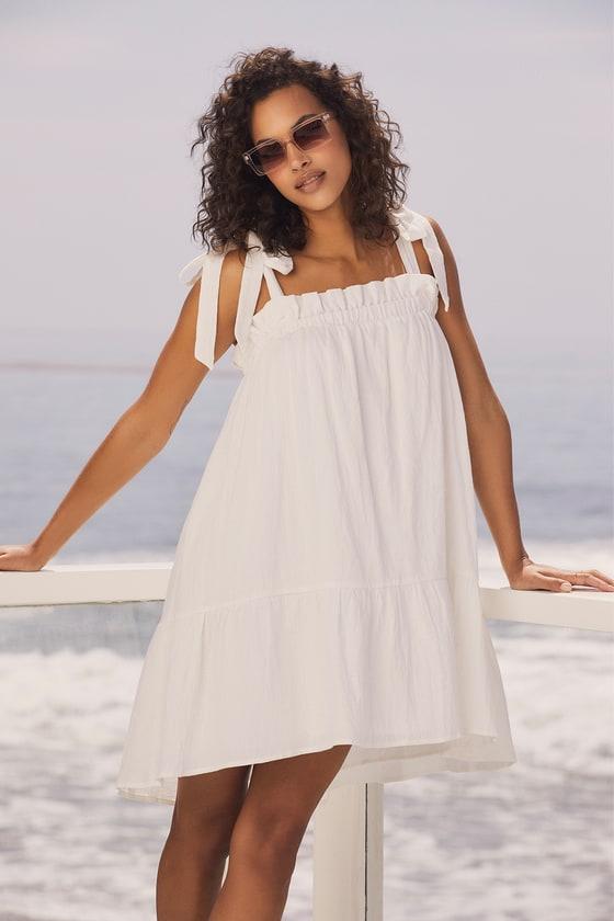 White midi house dress