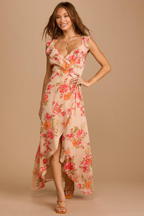 Ruffle hem summer maxi dress