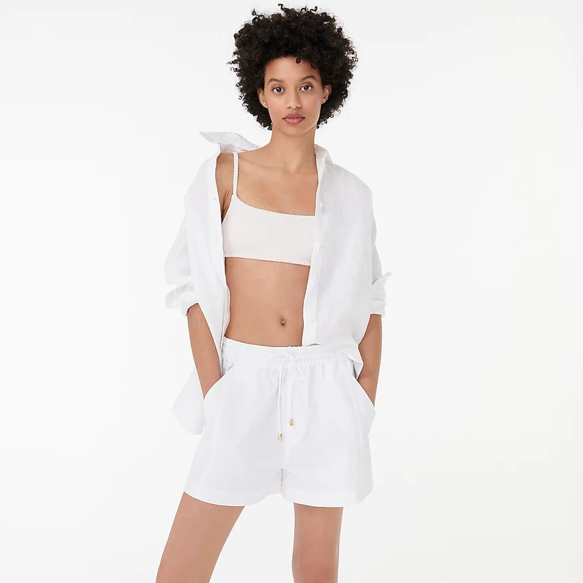 White board shorts to cover up stretch marks