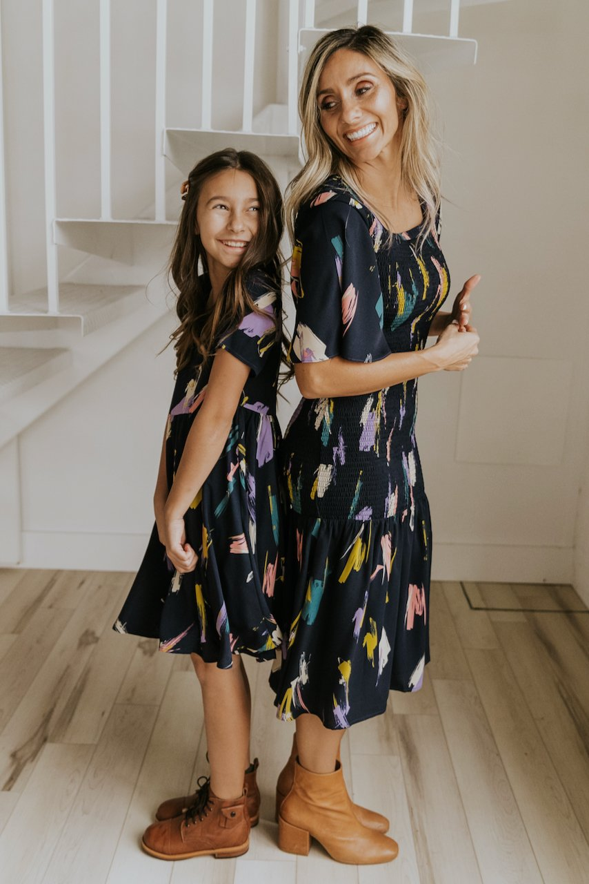 Floral dress mommy and me outfit