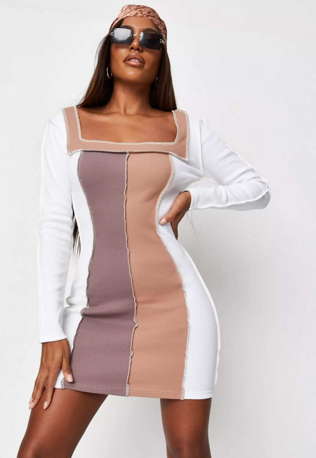 Two-tone dress for aesthetic outfits