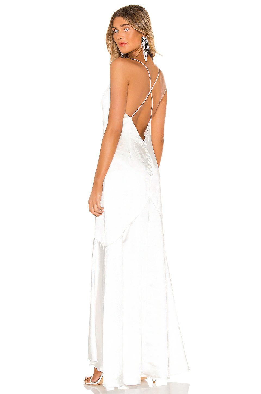 Simple criss-cross back affordable wedding dress