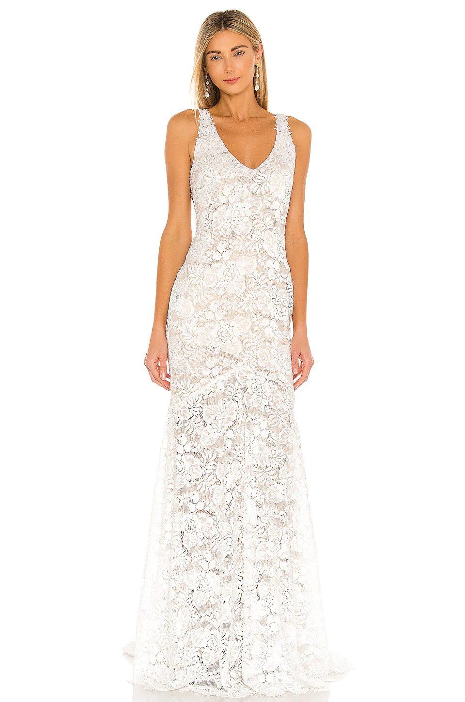 Laced bridal dress